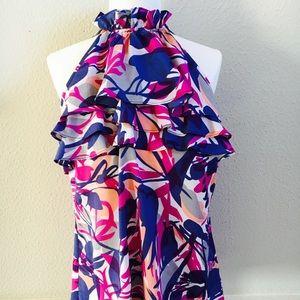Colorful Banana Republic silk top